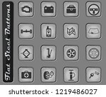 car shop web icons on the flat... | Shutterstock .eps vector #1219486027