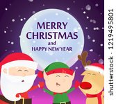 merry christmas flyer design.... | Shutterstock .eps vector #1219495801