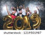 christmas greeting card mockup  ... | Shutterstock . vector #1219501987