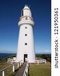 landscape of lighthouse on cape ... | Shutterstock . vector #121950361