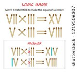 logic game for kids. puzzle... | Shutterstock .eps vector #1219506307