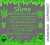 font from bubbling mucus.... | Shutterstock .eps vector #1219506517