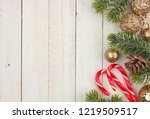 christmas side border with tree ... | Shutterstock . vector #1219509517