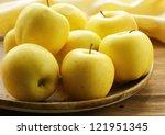 Fresh Autumn Yellow Apples On...