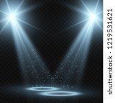 stadium floodlights brightly... | Shutterstock .eps vector #1219531621