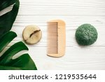 zero waste concept. natural eco ... | Shutterstock . vector #1219535644
