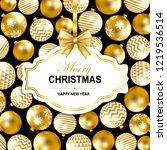 merry christmas and happy new... | Shutterstock .eps vector #1219536514