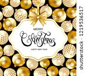merry christmas and happy new... | Shutterstock .eps vector #1219536517