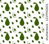 avocado seamless vector pattern ... | Shutterstock .eps vector #1219542631