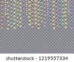 christmas lights isolated on... | Shutterstock .eps vector #1219557334