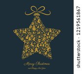 christmas card with decorative... | Shutterstock .eps vector #1219561867