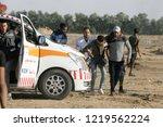 palestinian demonstrators... | Shutterstock . vector #1219562224