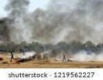 palestinian demonstrators... | Shutterstock . vector #1219562227
