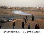 palestinian demonstrators... | Shutterstock . vector #1219562284