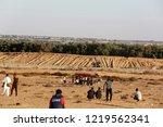 palestinian demonstrators... | Shutterstock . vector #1219562341