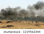 palestinian demonstrators... | Shutterstock . vector #1219562344