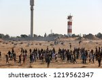 palestinian demonstrators... | Shutterstock . vector #1219562347