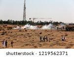 palestinian demonstrators... | Shutterstock . vector #1219562371