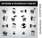 networking   communication icon ... | Shutterstock .eps vector #121957345