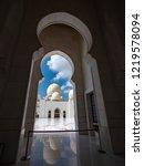 sheikh zayed mosque. abu dhabi  ... | Shutterstock . vector #1219578094