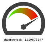 speed gauge icon on a white... | Shutterstock .eps vector #1219579147