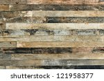 old wooden wall background or... | Shutterstock . vector #121958377