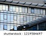 exterior of a modern office... | Shutterstock . vector #1219584697