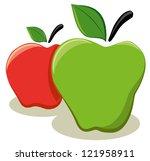 apples | Shutterstock .eps vector #121958911