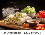 tortilla wraps with with... | Shutterstock . vector #1219594927