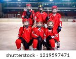 ice hockey youth boys players... | Shutterstock . vector #1219597471