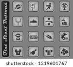 american football web icons on... | Shutterstock .eps vector #1219601767