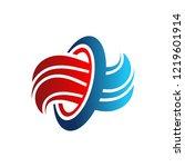 hot cold wave logo design... | Shutterstock .eps vector #1219601914
