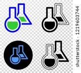 chemical glassware eps vector... | Shutterstock .eps vector #1219603744
