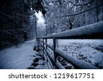 shot of a snow covered corral... | Shutterstock . vector #1219617751
