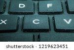 keyboard button close up x c v    Shutterstock . vector #1219623451