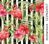 seamless pattern with... | Shutterstock . vector #1219626517