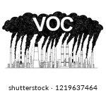 vector artistic pen and ink... | Shutterstock .eps vector #1219637464