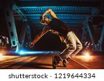 young cool man break dancer on... | Shutterstock . vector #1219644334