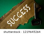 success conceptual with rustic  ...   Shutterstock . vector #1219645264