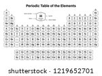periodic table of the elements... | Shutterstock .eps vector #1219652701