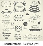calligraphic design elements... | Shutterstock .eps vector #121965694