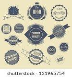 set of retro vintage labels ...