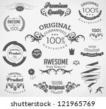 calligraphic design elements... | Shutterstock .eps vector #121965769