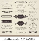 Stock vector calligraphic design elements and page decoration vector set 121966045