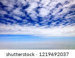 high altitude white clouds | Shutterstock . vector #1219692037