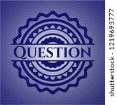 question with denim texture | Shutterstock .eps vector #1219693777