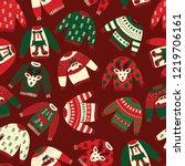 Seamless Vector Ugly Christmas...