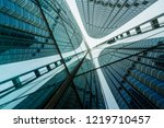 low angle view of skyscrapers... | Shutterstock . vector #1219710457