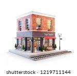 unusual 3d illustration of a... | Shutterstock . vector #1219711144