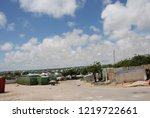 houses destroyed during the war ... | Shutterstock . vector #1219722661